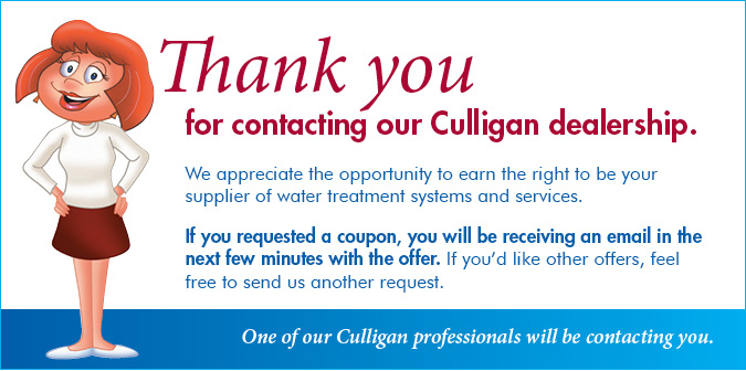 Thank You For Contacting Culligan