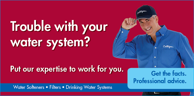 Trouble with your water system? Put our expertise to work for you. Water Softeners. Filters. Drinking water systems.