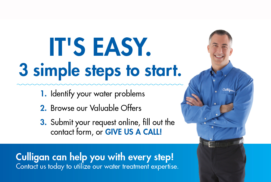 3 Simple Steps to Start, water problems, valuable offers